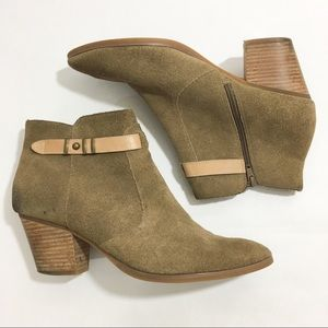 Seychelles Suede Side Zip Heel Booties
